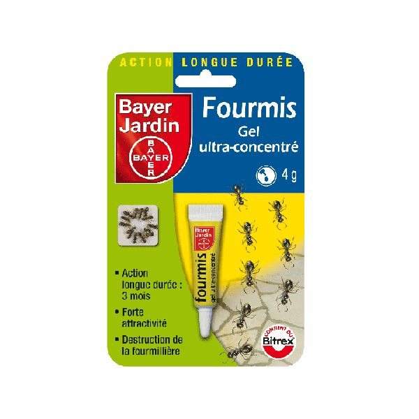 Fourmis tube gel ultra concentr bayer jardin jean paul for Bayer jardin produits insecticides